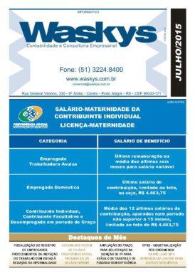 Boletim Informativo Julho/2015