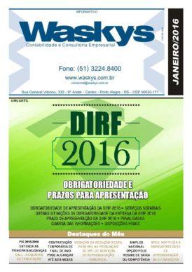 Boletim Informativo Janeiro/2016