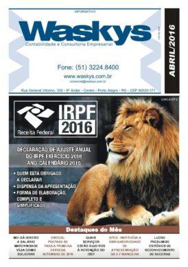 Boletim Informativo Abril/2016